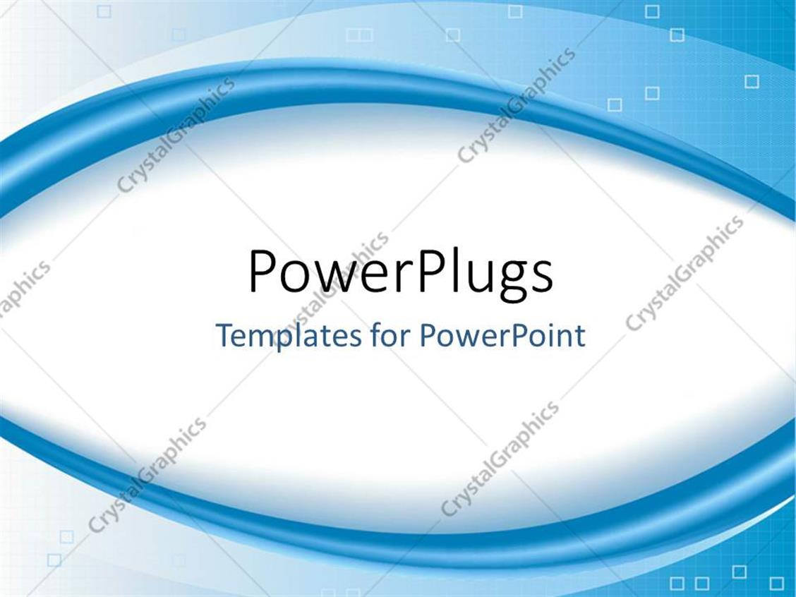 PowerPoint Template: A White Oval Shape With Bluish