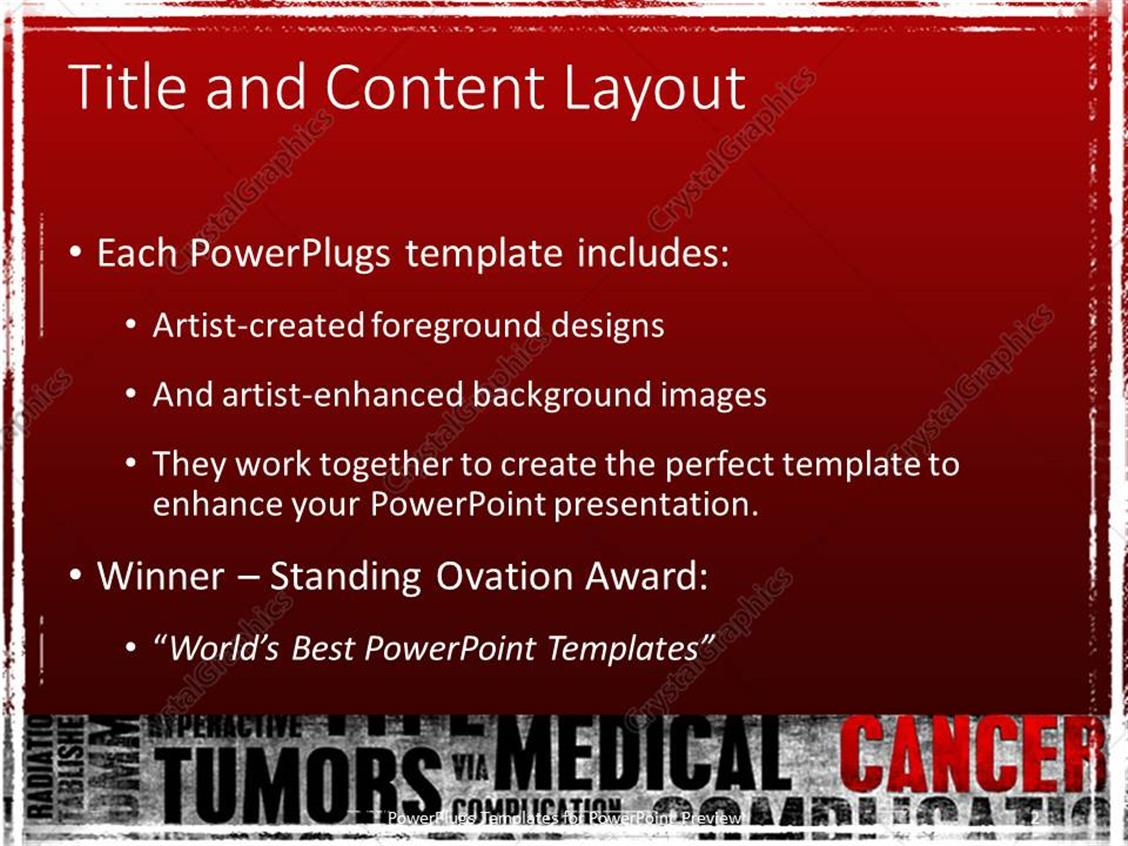 cancer powerpoint templates free download images - templates, Powerpoint templates