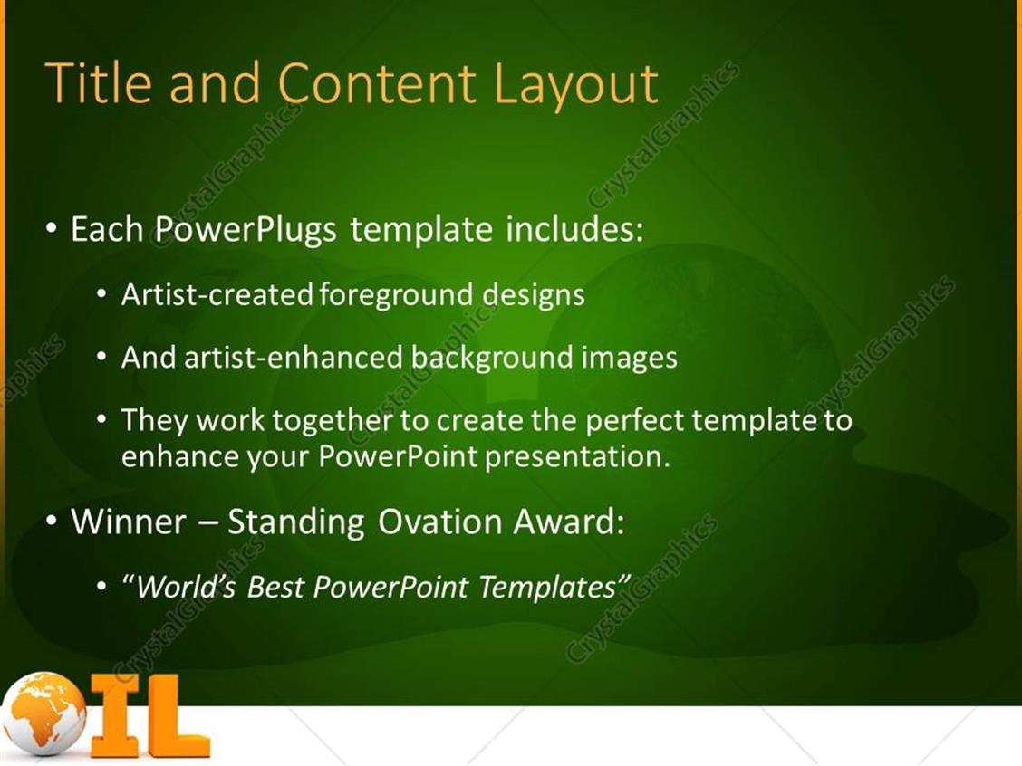 powerpoint template: the word oil written beautifully with the, Presentation templates