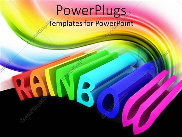 Powerpoint template the word rainbow being written in a colorful powerpoint template displaying the word rainbow being written in a colorful way toneelgroepblik