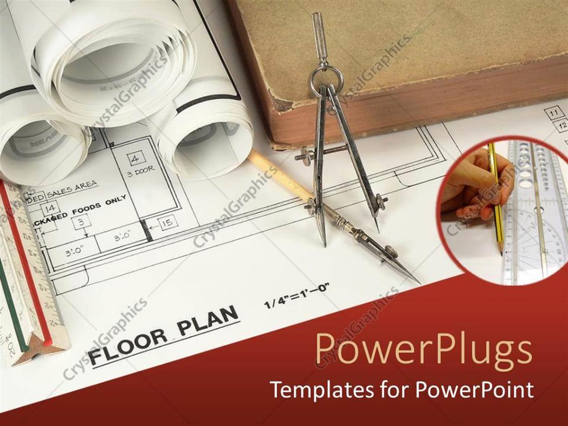 Powerpoint Template Work In Progress Of Floor Plans 2051