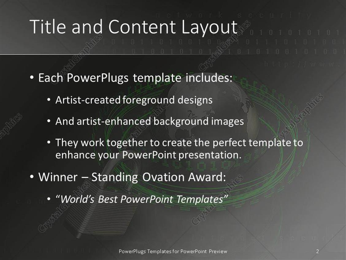 powerpoint template: the world wide web internet security, Powerpoint templates