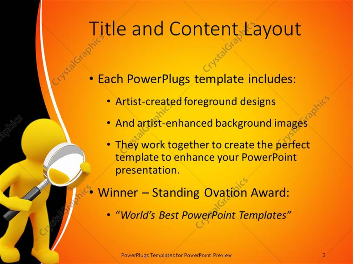 Powerpoint template yellow 3d figure looking through a large powerpoint products templates secure toneelgroepblik Image collections