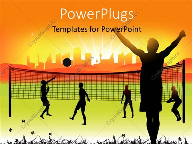 Powerpoint template youth playing volleyball in ground on nature powerpoint template displaying youth playing volleyball in ground on nature summer toneelgroepblik Choice Image
